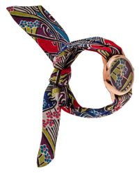 Liberty - Blue Large Ianthe Print Rose Knot Watch - Lyst