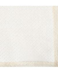 Marwood - White Cotton Lace Pocket Square for Men - Lyst