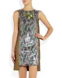 Matthew Williamson - Metallic Beadembellished Brocade Dress - Lyst