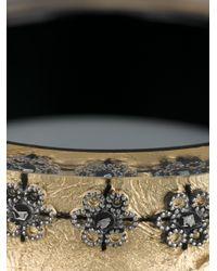 Nicholas King - Metallic Oxi Flower Bangle - Lyst