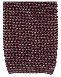 Nick Bronson - Red Burgundy and Grey Birdseye Knitted Silk Tie for Men - Lyst