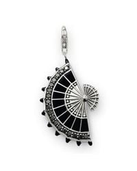 Thomas Sabo | Metallic Rebel At Heart Black Fan Pendant | Lyst