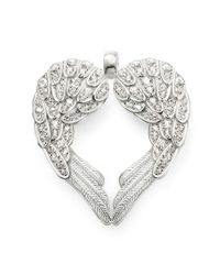 Thomas Sabo | Classic Large White Winged Heart Pendant | Lyst
