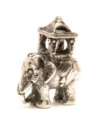 Trollbeads - Gray Indian Elephant Silver Charm Bead - Lyst