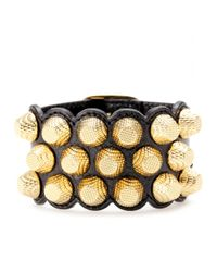 Balenciaga | Metallic Giant 12 Triple-Row Leather Bracelet | Lyst