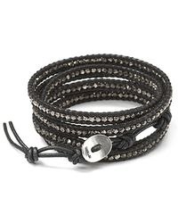Chan Luu - Black Beaded Wrap Bracelet - Lyst