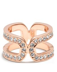 COACH | Pink Double Link Wrap Ring | Lyst