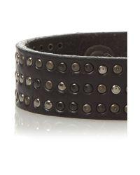 DIESEL   Black Studded Cuff Bracelet   Lyst