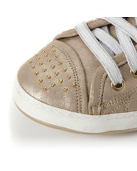 Dune - Metallic Likely Flat Stud Lace Up Trainer Shoes for Men - Lyst