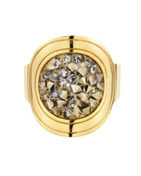 Dyrberg/Kern | Metallic Deanna Shiny Gold Grey Cluster Ring | Lyst