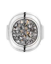 Dyrberg/Kern | Metallic Deanna Shiny Silver Grey Cluster Ring | Lyst