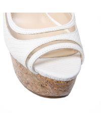 Enzo Angiolini - White Amure Sling Back Platform Shoes - Lyst