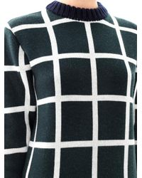 J.W.Anderson - Green Window Pane Check Sweater - Lyst