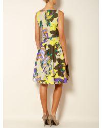 Max Mara Studio | Multicolor Saggina Vneck Floral Print Shift Dress | Lyst
