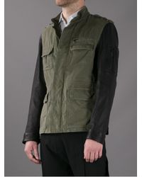 Neil Barrett - Green Bicolour Military Jacket for Men - Lyst
