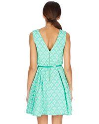 Oasis - Green Mint Jacquard Dress - Lyst