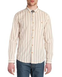 Ted Baker | Natural Beengud Vertically Striped Shirt for Men | Lyst