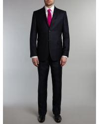 82adbe265 Ted baker Broken Checked Suit in Blue for Men