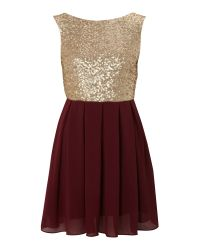 TFNC London | Metallic Sequin Sarah High Low Dress | Lyst