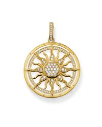 Thomas Sabo | White Special Addition Sun Stone Set Pendant | Lyst