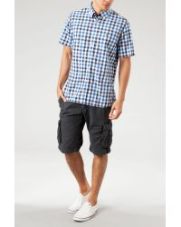 Tommy Hilfiger - Blue Ernesto Short Sleeve Check Shirt for Men - Lyst