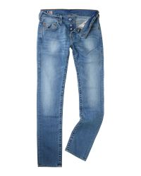 True Religion | Black Ricky Straight Mens Jean for Men | Lyst