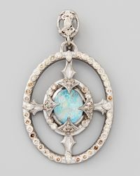 Armenta - Metallic New World Oval Opaltopaz Diamond Pendant - Lyst