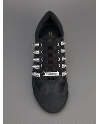 DSquared² - Black Studded Sneaker for Men - Lyst