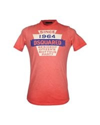 DSquared² - Red Tshirt for Men - Lyst