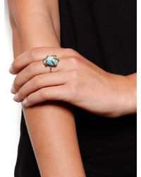 Five And Two - Blue Turquoise Chunk Prong Ring - Lyst