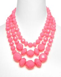 kate spade new york | Pink Give It A Swirl Statement Necklace 18 | Lyst