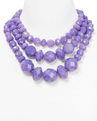 kate spade new york - Purple Give It A Swirl Statement Necklace 18 - Lyst
