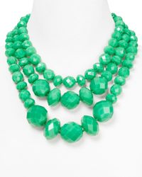 kate spade new york | Green Give It A Swirl Statement Necklace 18 | Lyst