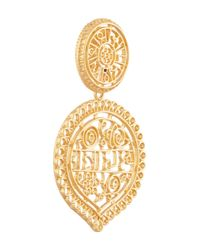 Kenneth Jay Lane | Metallic Gold-plated Filigree Clip Earrings | Lyst