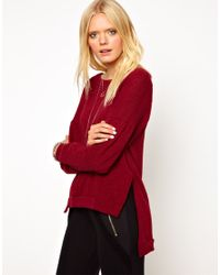 LNA - Red Jack Step Hem Jumper - Lyst