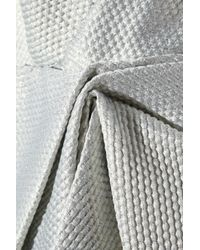 Notte by Marchesa | Draped Metallic Jacquard Dress | Lyst