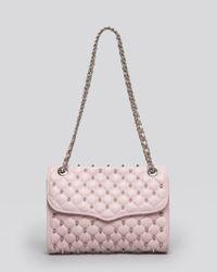 Rebecca Minkoff - Pink Shoulder Bag Spikey Studs Affair - Lyst