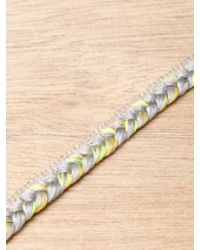 Alyssa Norton - Yellow Sterling Silver and Braided Silk Bracelet - Lyst