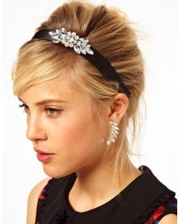 ASOS | Black Bejewelled Headband Earring Pack | Lyst