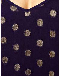 ASOS - Blue Maxi Dress in Jacquard Spot - Lyst