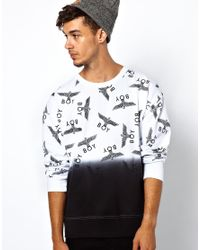 ASOS - Natural Boy London Repeat Dip Dye Sweat for Men - Lyst