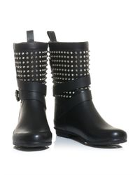Burberry Prorsum - Black Holloway Studded Wellington Boots - Lyst