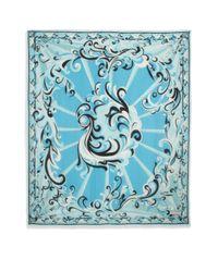 Emilio Pucci - Blue Mirrored Print Scarf - Lyst