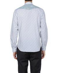 Etro | Blue Micro Print Shirt for Men | Lyst