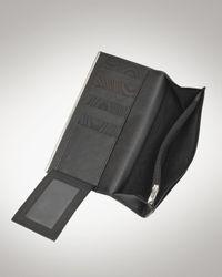 Ferragamo - Black Gancini Icona Vitello Continental Wallet - Lyst
