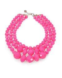 kate spade new york | Pink Give It A Swirl Faceted Multistrand Necklace | Lyst