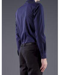 Moschino - Blue Classic Collar Dress Shirt for Men - Lyst