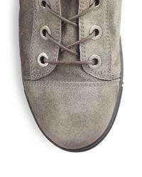 Stuart Weitzman | Natural Shotput Suede Ankle Boots | Lyst