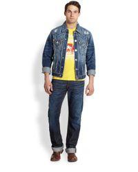 True Religion - Blue Jimmy Super T Denim Jacket for Men - Lyst