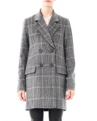 Vanessa Bruno - Gray Prince Of Wales Double Breasted Coat - Lyst